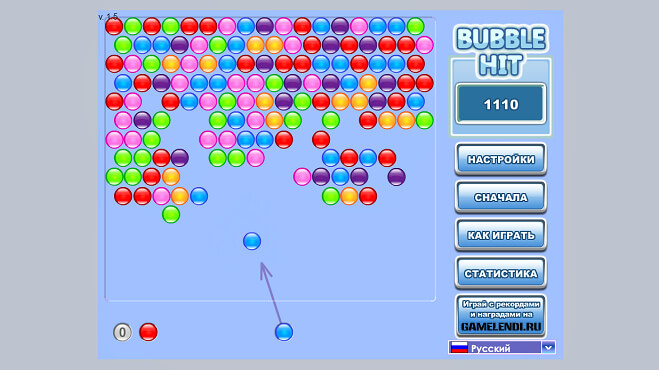 Bubble Hit играть онлайн